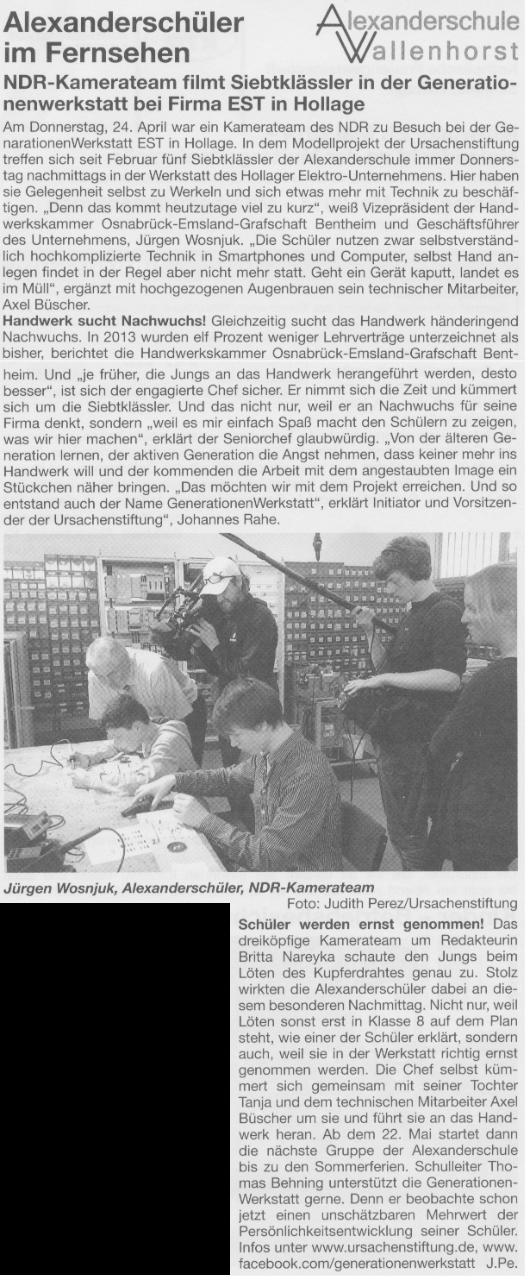 Bürgerecho vom 7. Mai 2014