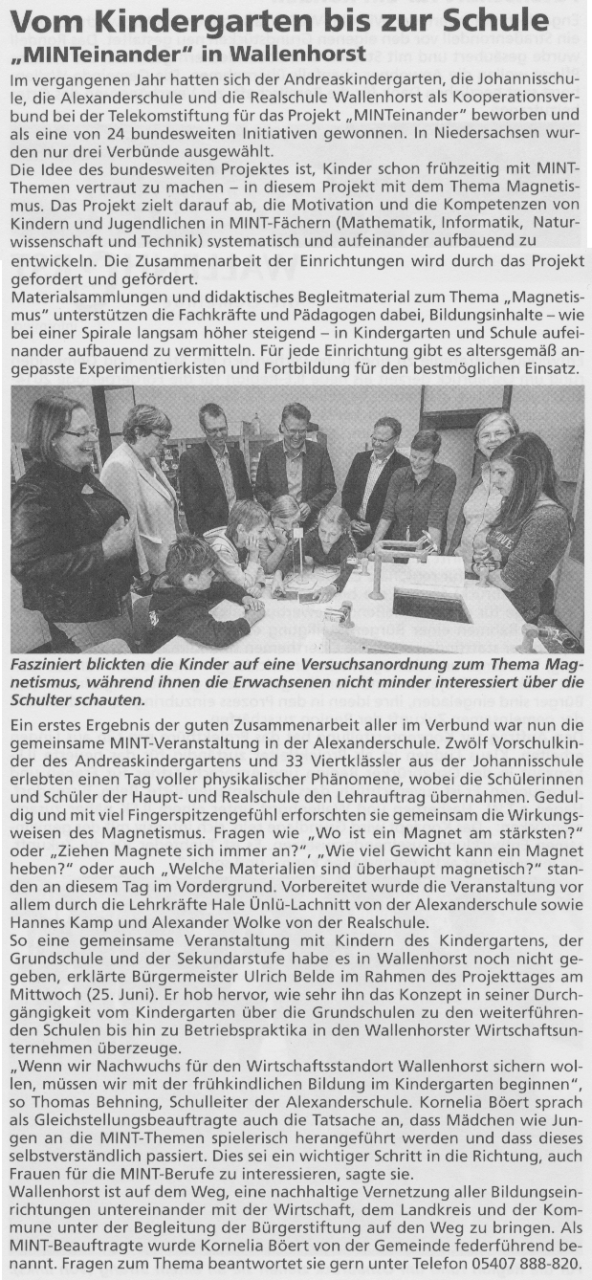 Bürgerecho vom 16. Juli 2014